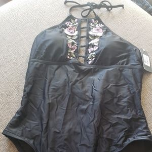 NWT  Mossimo One-piece Swimsuit Size Large